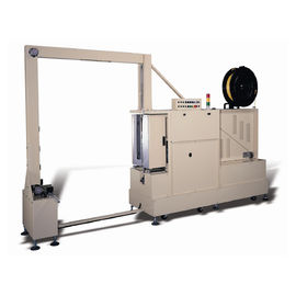 HMI Touch Panel Vertical Strapping Machine , High Efficiency Automatic Strapping Machine