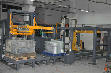 PLC Control Poly Strapping Machine , Automatic Poly Strapping Machine For Empty Bottles